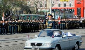 Перекрытие улиц в Екатеринбурге при репетиции парада Победы