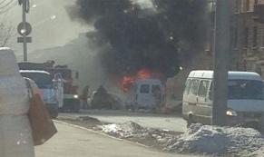 В Нижнем Тагиле на ходу загорелось маршрутное такси