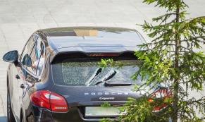 Дебошир с арматурой напал на Porshe и Mercedes депутатов Заксобрания