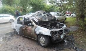 В Екатеринбурге в ночь с 5 на 6 июля сгорело три автомобиля
