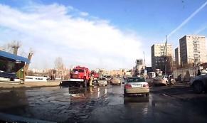 ДТП с пожарной машиной в Первоуральске