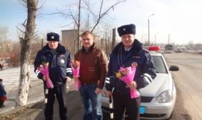 ГИБДД Первоуральска поздравляет автолюбительниц с 8 марта