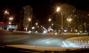 Авария на перекрестке улиц Токарей-Крауля